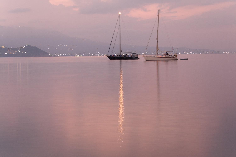 sunset koroni messinia sailing