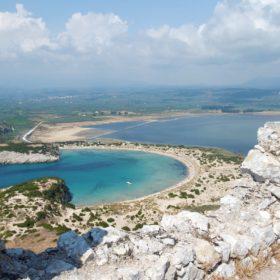 castle navarino voidokilia beach greece