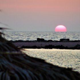 navarino romanou beach sunset