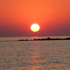 sunset greece messinia