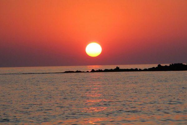 sunset greece messinia