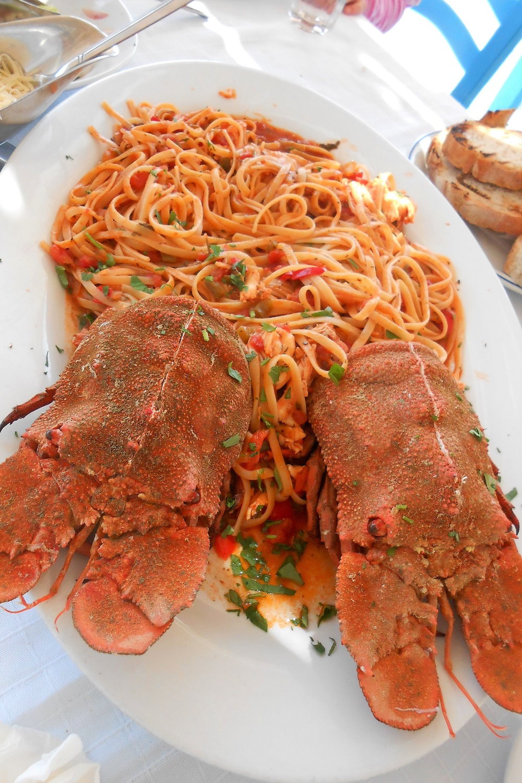 kolohtypa spaggetti with lobster Greece
