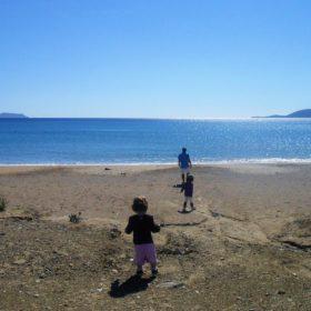 finikounda beach messinia peloponnese kids