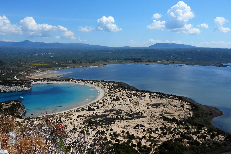 voidokilia beach navarino pylos greece castle