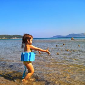 lambes beach messinia kids
