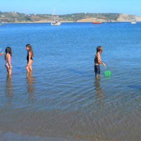 methoni beach kids messinia
