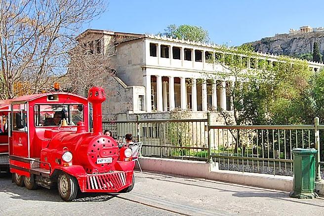 train kids Athens acropolis