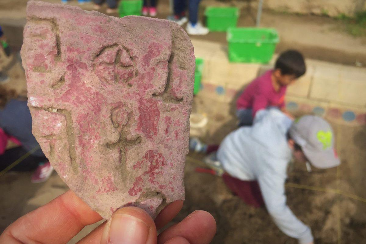 excavation kids crete greece