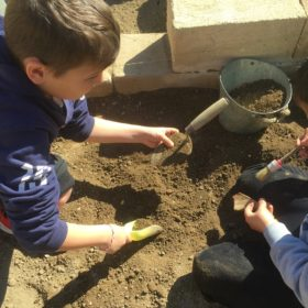 educational excavation kids crete greece