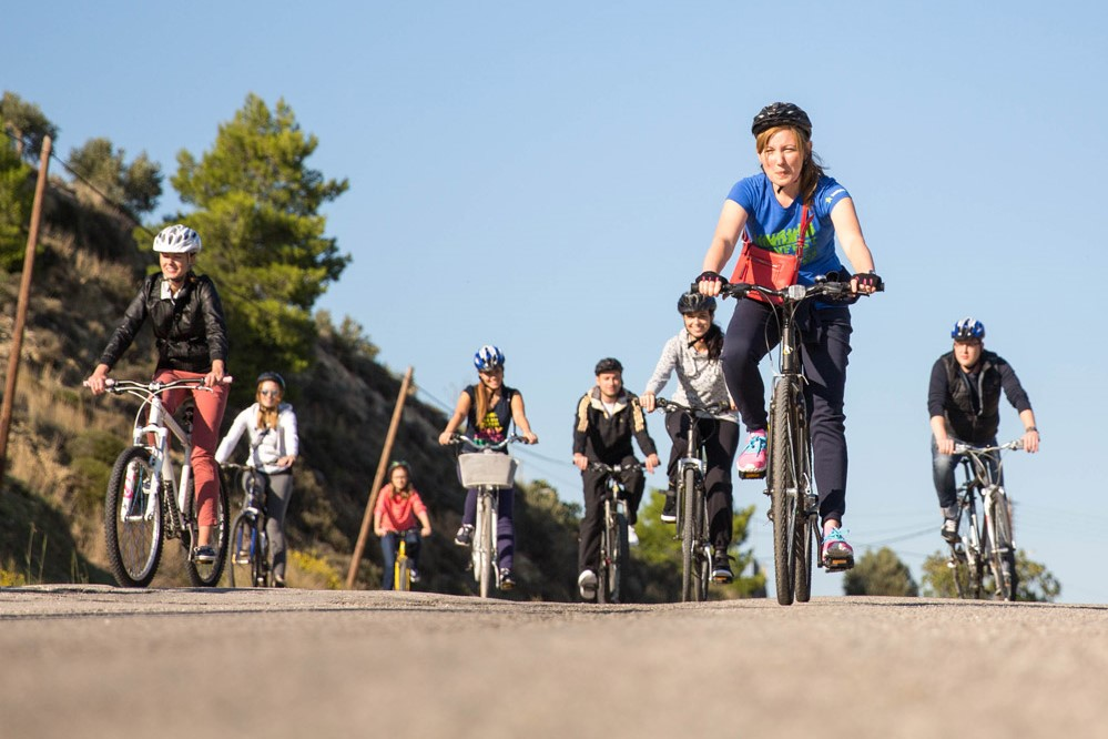 families cycling nafplio