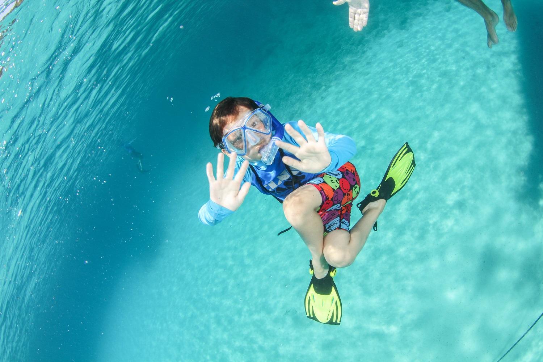 snorkelling kids family Crete