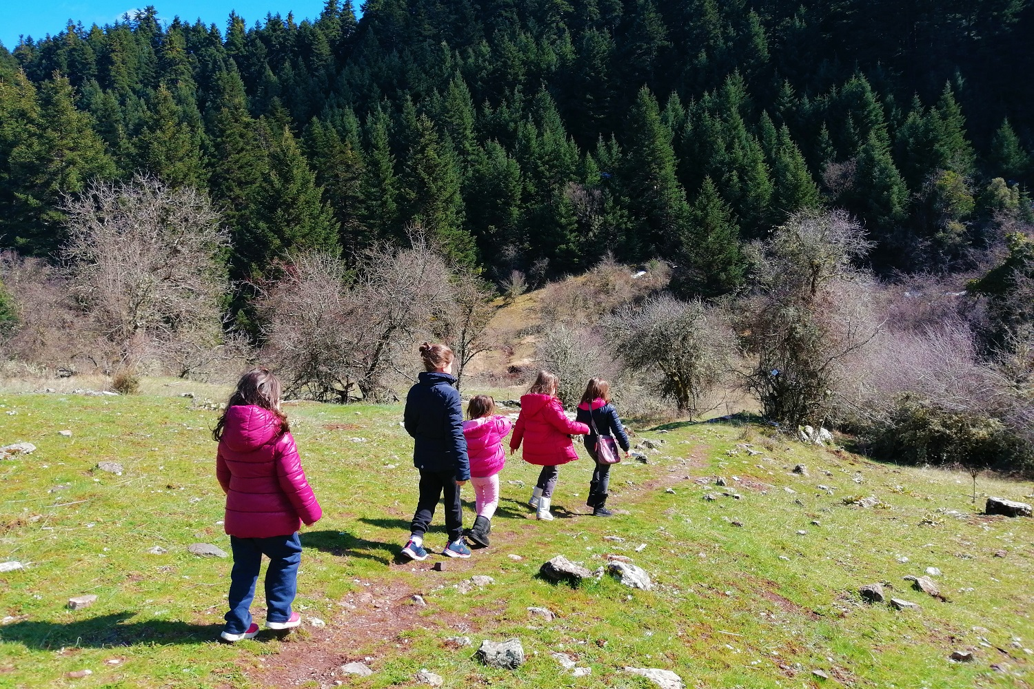 menalon trail hiking familly kids