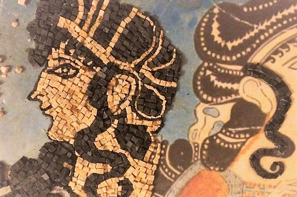 mosaic art minoan crete
