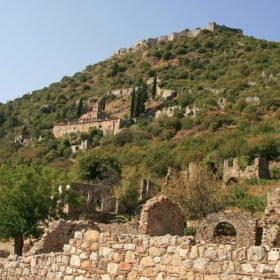 mystras castle laconia peloponnese