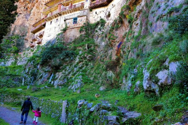 prodromos monastery arcadia hiking family