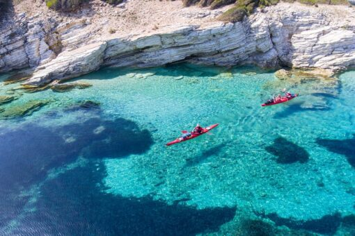 sea kayak ionian greek islands kids families