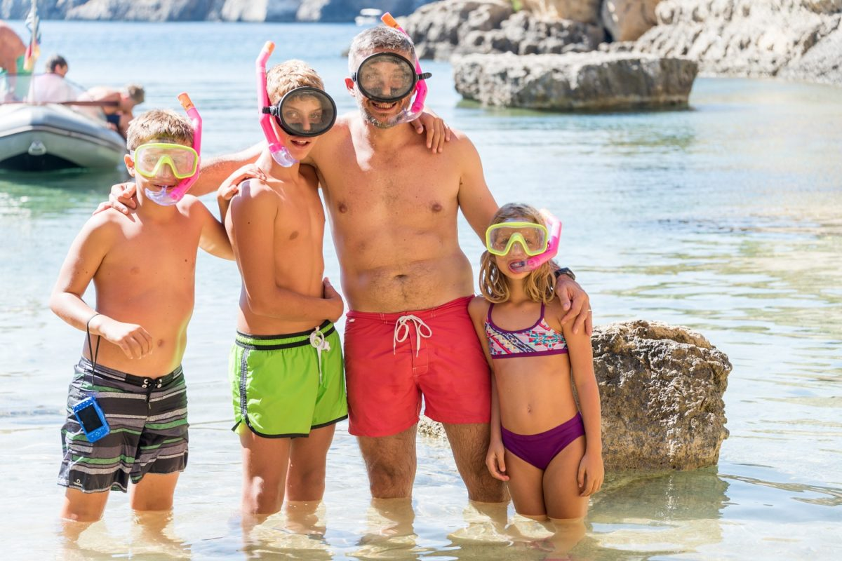 snorkelling kids family peloponnese