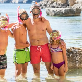 snorkelling kids family peloponnese