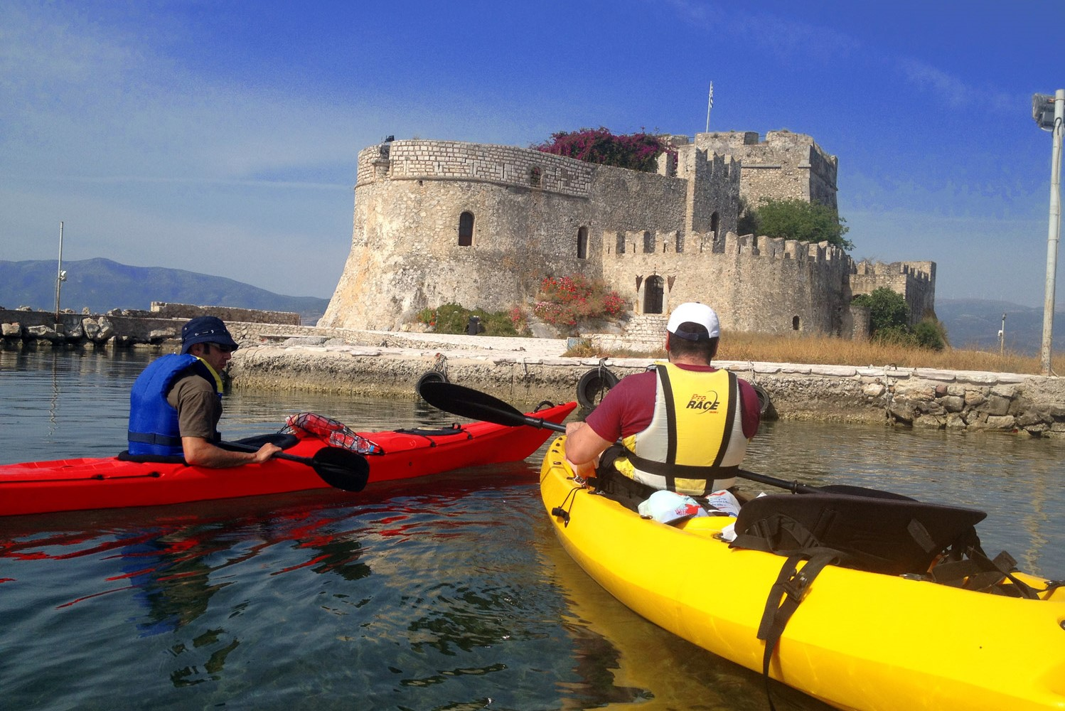 families kids sea kayak nafplio