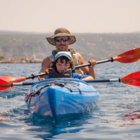 sea kayak messinia peloponnese kid pylos