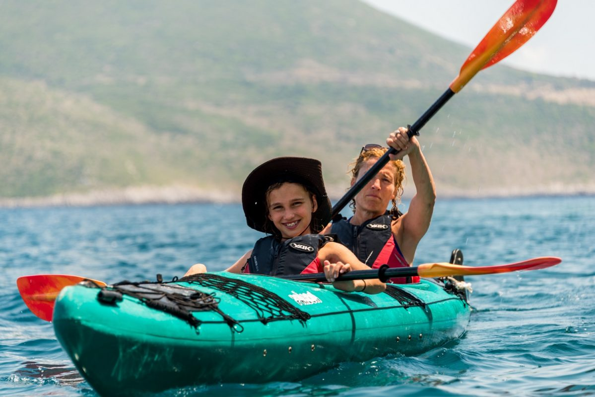 sea kayak messinia kids families