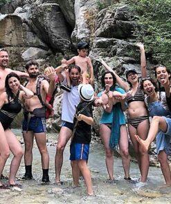 waterfall happy family friends corinthia