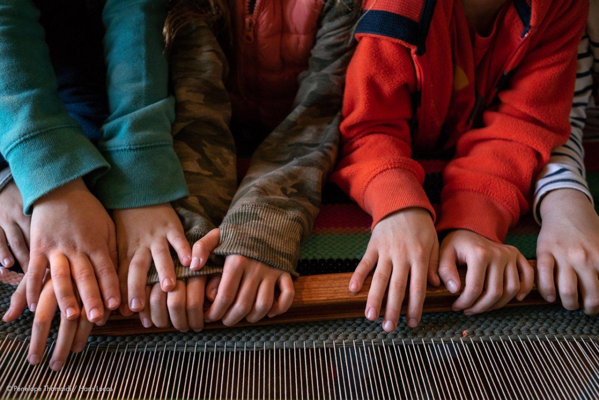 weaving traditional Greece zagori families kids
