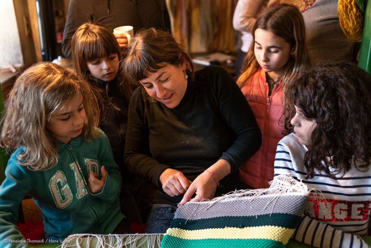 weaving traditional Greece zagori families kids