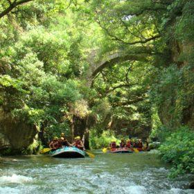 family rafting arcadia peloponnese greece