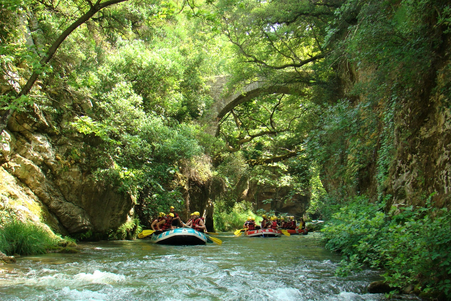 family rafting arcadia peloponnese greece