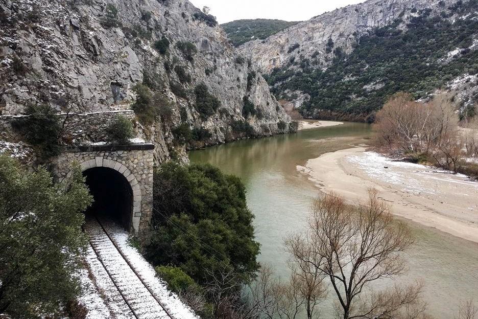 nestos trail railway northern greece