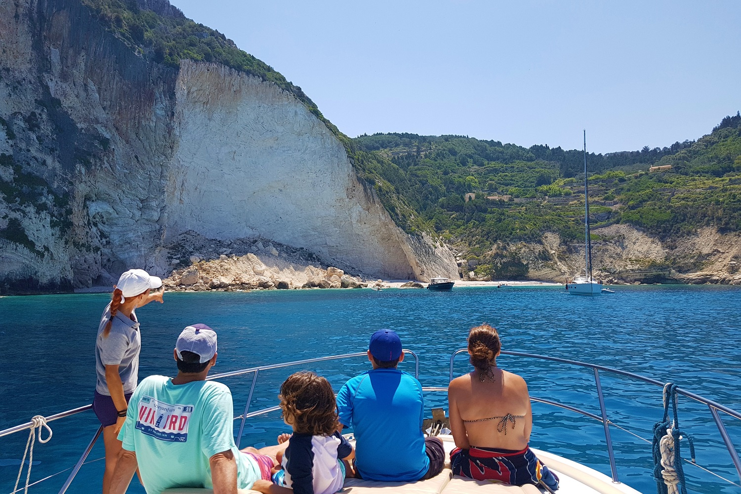 ionian islands family private cruise greek