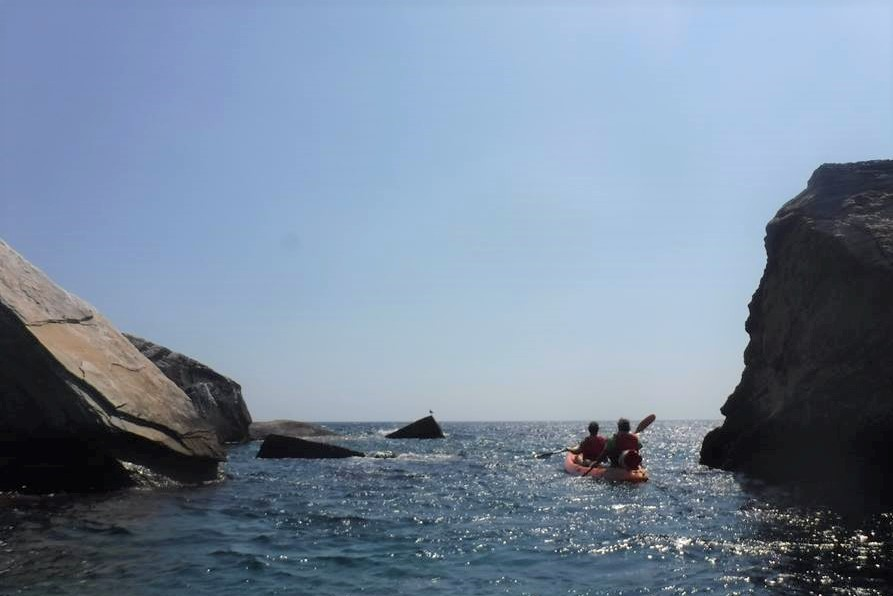 sea kayak thassos greek islands