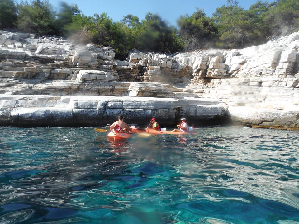 sea kayak thassos island greece