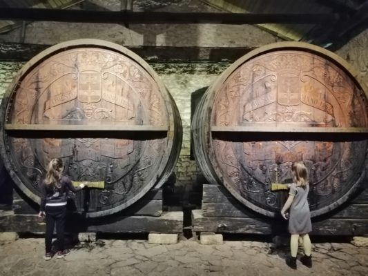 huge barrels Achaia Clauss Imperial Cellar