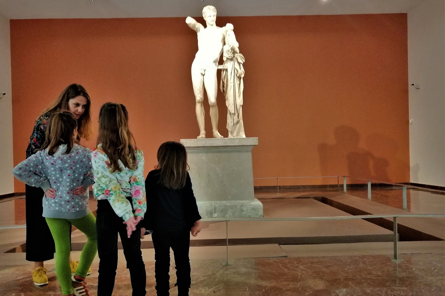 ancient olympia kids hermes museum