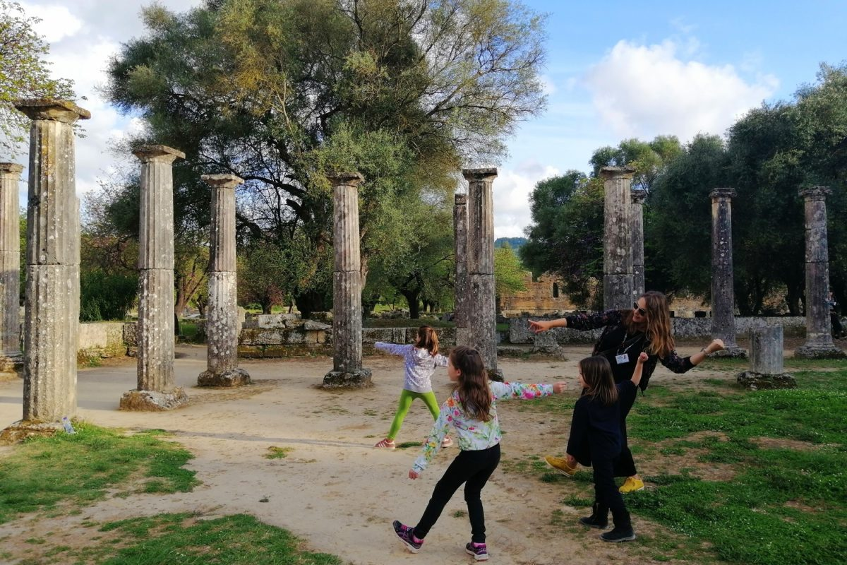 ancient olympia tour guide kids