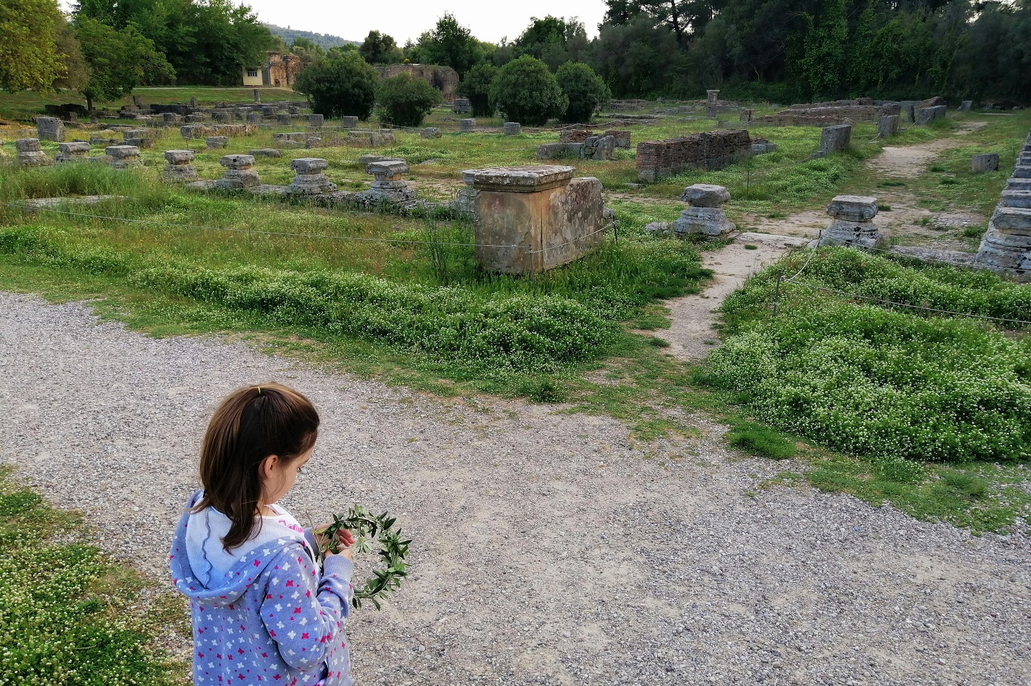 ancient olympia kids olive wreath