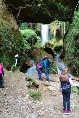 family waterfalls peloponnese