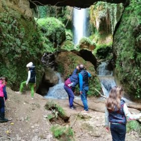 family waterfalls peloponnese