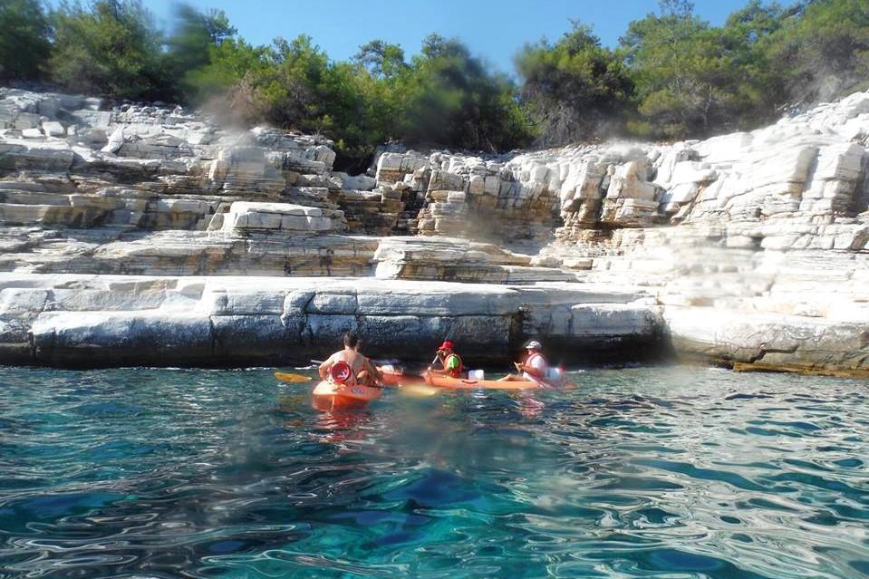 thassos sea kayak island