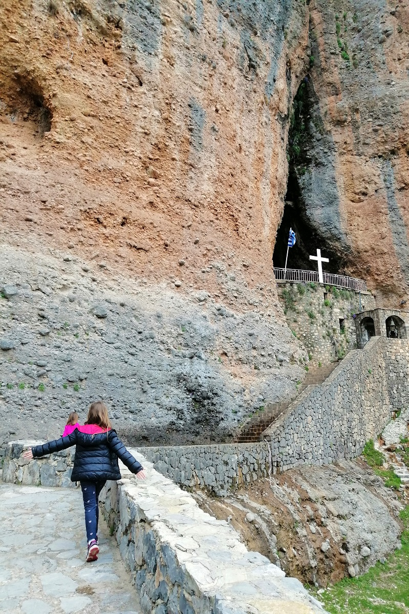 mountainous corinthia lady of the rocks kids peloponnese