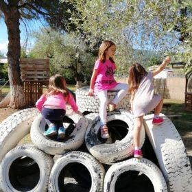 handmade playground greece with kids