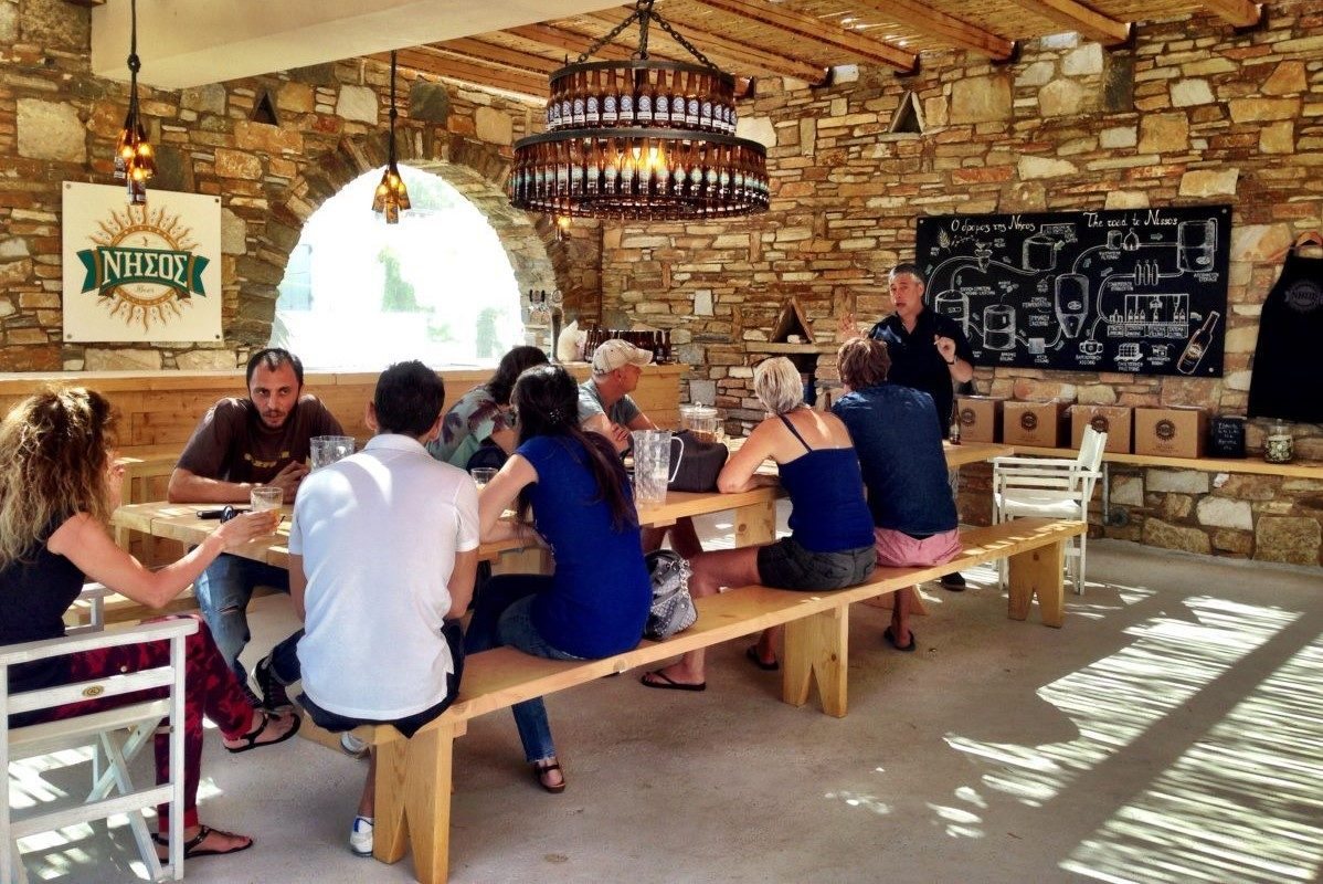beer tasting with kids cyclades