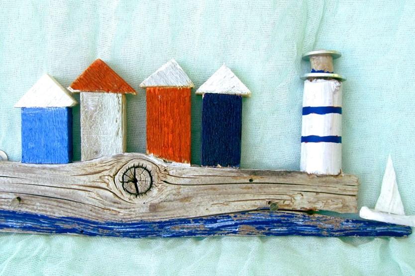 handmade art boat wood