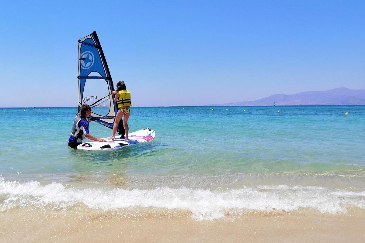 wind surfing kid naxos