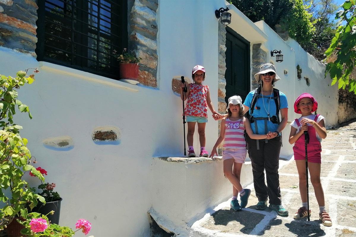 naxos hiking kids mother