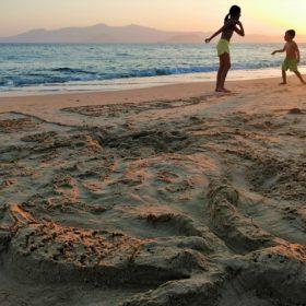 plaka sand games kids naxos mermaid