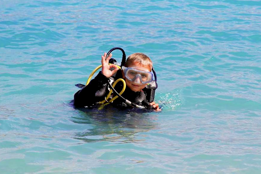 diving kids amorgos greek islands