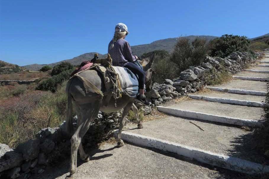 donkey rides amorgos